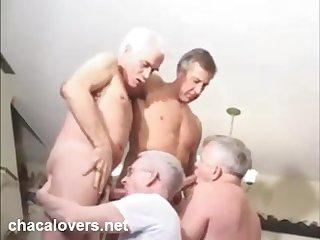 Grandfathers orgy orgia de abuelos
