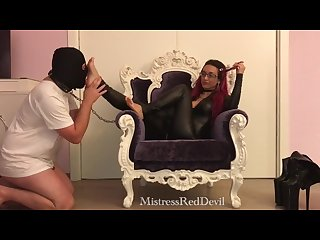 Mistress red devil lick my feet