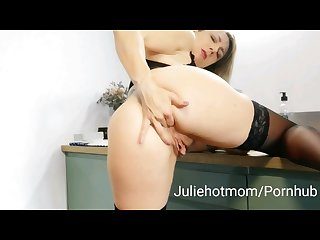 Stepmom kitchen good fuck the morning with my hot stepmom