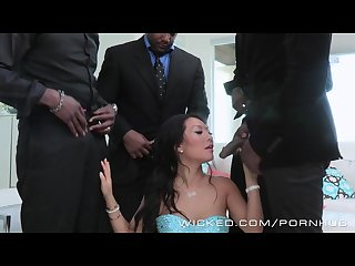 Wicked asa akira takes four bbcs