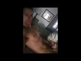 Straight guy jerking off with toy