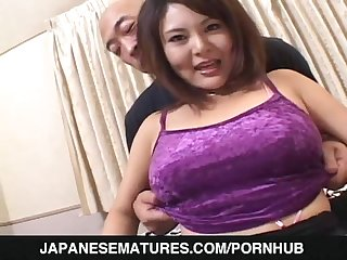Mature babe sucks cock in harsh ways