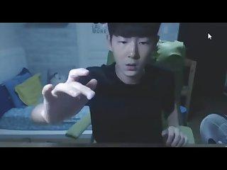 Korean boy eats his own cum