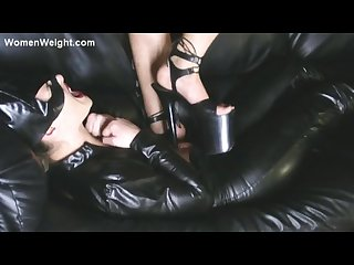 Catgirl gets trampled by her mistress in heels