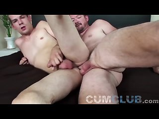 Cumclub daddy teaches young pup raw 1
