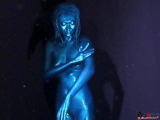 Blue silver paint