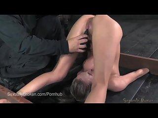 Skinny blonde roxy rox cums in a piledriver