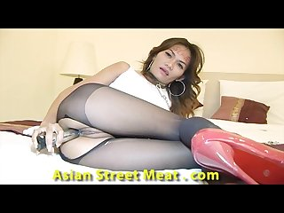 Sphincter gripping asian chain slave