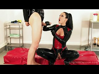 Latex lady and new slave