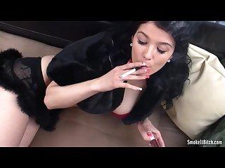 Adrianne smokes
