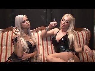 Two smoking blonde babes