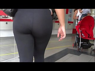 Hot big ass in see thru leggings