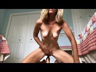 Aunt masturbating