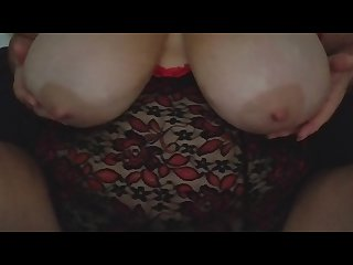 Huge oiled up boobs teased by sexy bbw