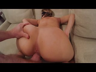 Masked stranger doggy style queef and creampie