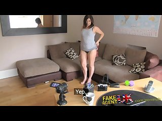 Fakeagentuk big facial for web cam girl in casting