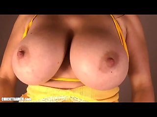 Hypnotits punching and slapping britney S huge dd boobs in slow motion