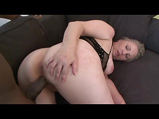 Chubby blonde granny craves some big black dick in her