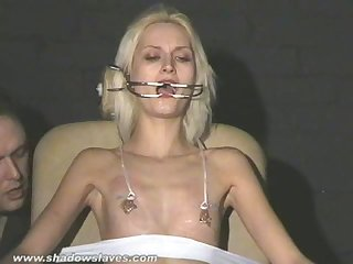 Cruel amateur bdsm and needle tit torture of tied blonde slaveslut in hard