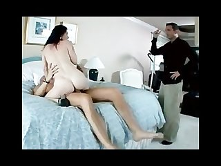 Husband catches his wife fucking another man