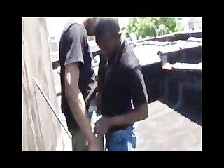 Rooftop thug fuck