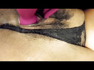 Tiny virgin pussy hole stretched by huge dildo homemade