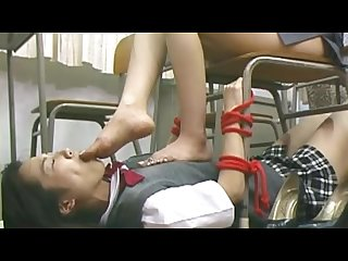 Japanese lesbian teacher feet domination
