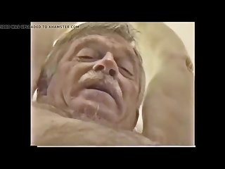 Older Grandpa gets Tortured and Cums on Himself