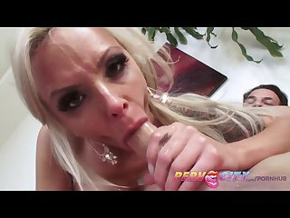 Pervcity Nina elle loves giving deep sloppy blowjobs
