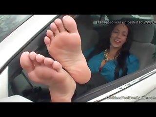 Goddess valentine parking lot foot humiliation joi