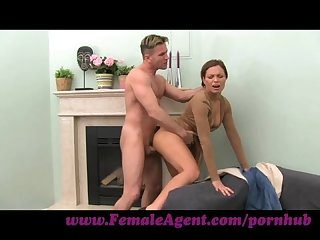 Femaleagent milf cums all studs cock