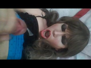 Sexy shemale self facial cum paulina doll