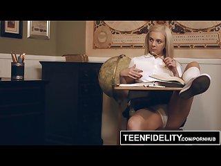 TEENFIDELITY - Smoking Teen Tiffany Watson Seduces Teacher For Creampie