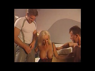 Beautiful busty blonde dutch milf fucked dp cum lingerie helen duval