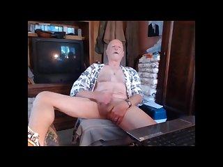 Grandpa masturbating