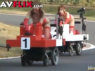 Japanese bizarre go cart sex
