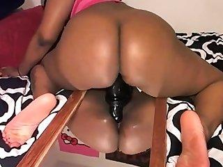 Dani rides her big black cock