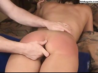 My sub wife screams and cries as i spank her