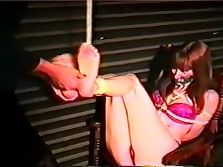 Vintage barefoot bondage and foot Tickling