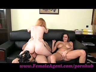 Femaleagent curvaceous redhead in first time anal casting