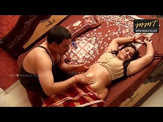 Indian aunty getting oil massage