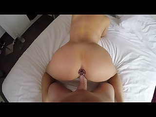Hannah brooks gets fucked doggy style and filled up with cum