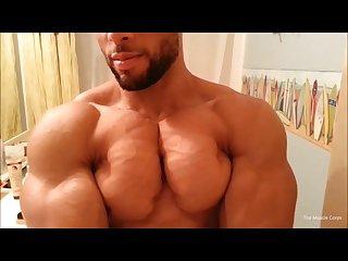 Big muscle in bathroom