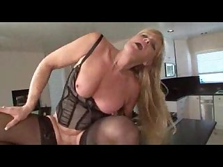 Nina hot blonde granny in stocking
