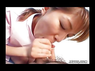 Hot nurse aya inazawa blowjob