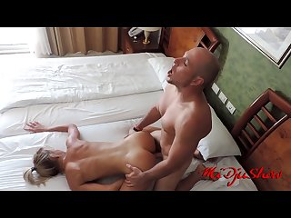 cumshot on the oiled ass