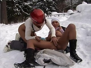 Hotties get wild on the snow