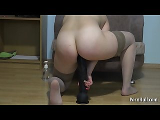 Natasha fuck her ass huge dildo