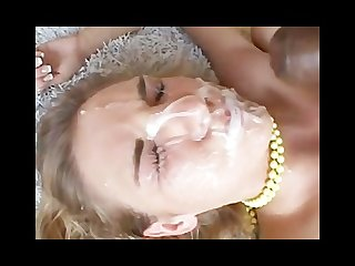 She takes nasty facials while fucking