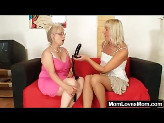 Well endowed grandma penetrates a milf
